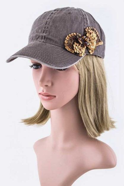 Sequins Bow Fashion Cap - orangeshine.com