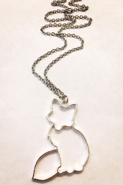 Cut out Fox necklace - orangeshine.com