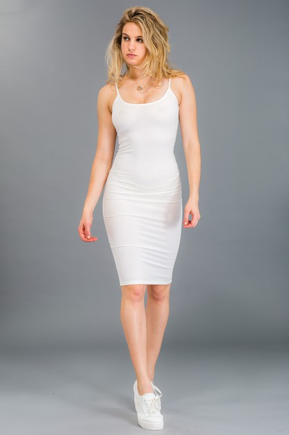 Ribbed Cami Dress - orangeshine.com