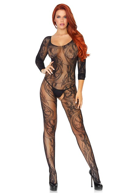 Swirl Lace Bodystocking - orangeshine.com