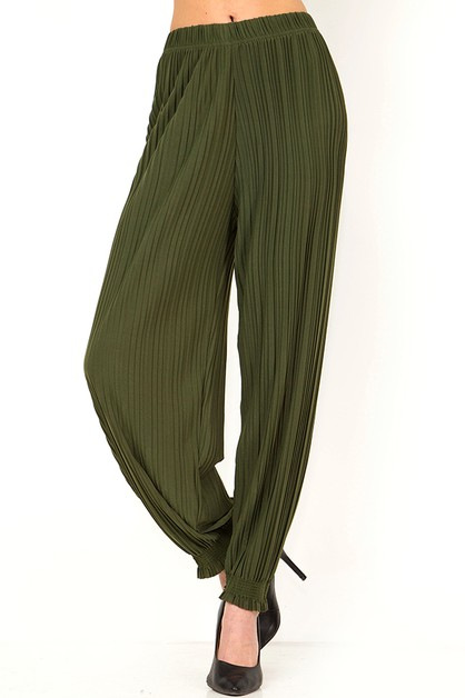 PLEATED FOLDED JOGGER PANTS - orangeshine.com