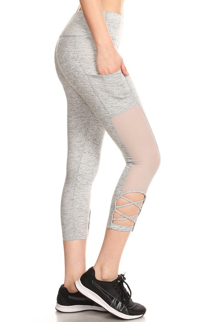 Tummy Control Mesh Sports Leggings - orangeshine.com