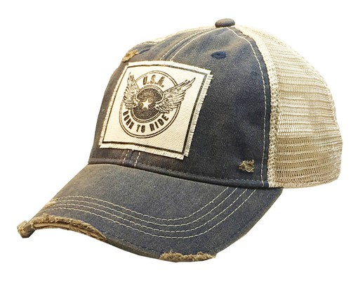 Born To Ride Trucker Hat - orangeshine.com