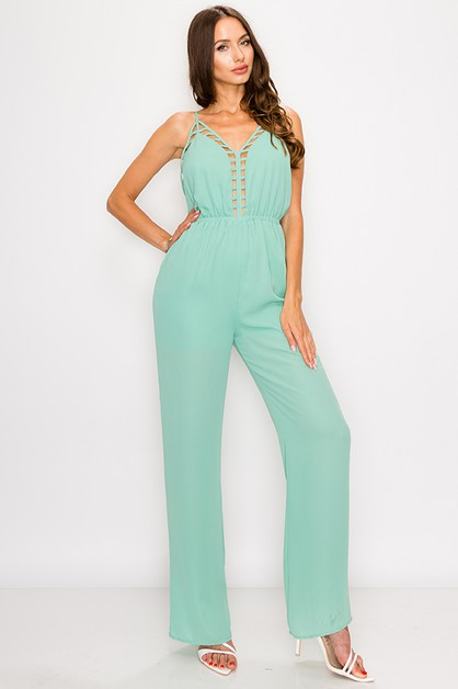 178e1dc0708b DOUBLE BREASTED BELTED ROMPER. CAGED PLUNGING JUMPSUIT - orangeshine.com