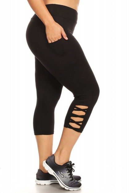 Plus size capri yoga legging - orangeshine.com