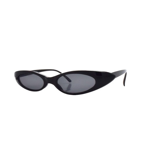 Trendy Narrow Oval Cat Eye Sunglass - orangeshine.com