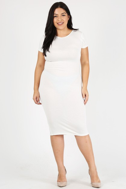 Plus Size bodycon midi dresses - orangeshine.com