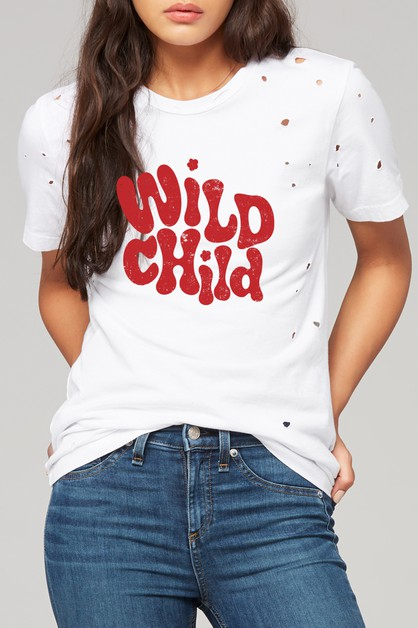 WILD CHILD DISTRESSED TEE - orangeshine.com