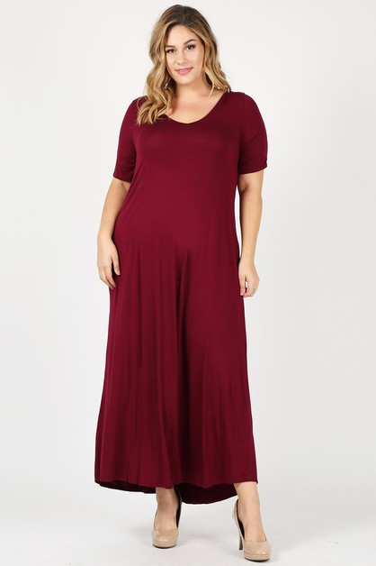 Plus Size Relaxed fit Maxi Dress  - orangeshine.com