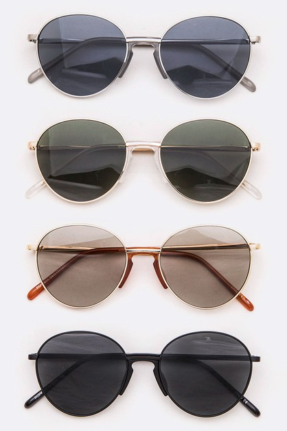 Iconic Bridge Round Sunglasses - orangeshine.com