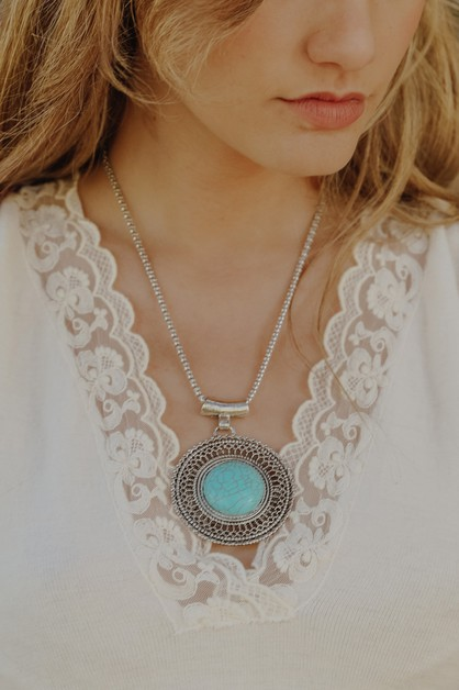 Turquoise Sunrise Necklace - orangeshine.com