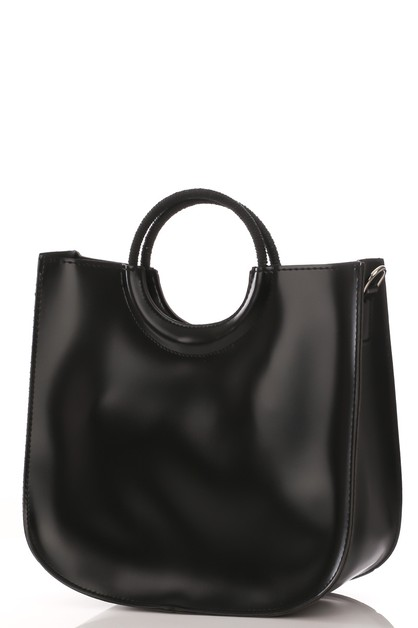 Faux Leather Square Handbag - orangeshine.com