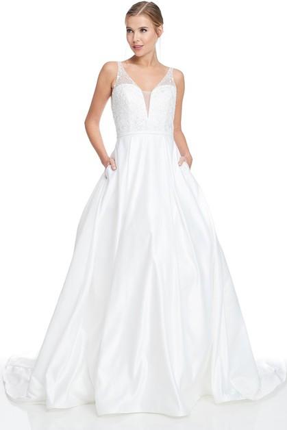 Sleeveless Wedding Dress - orangeshine.com