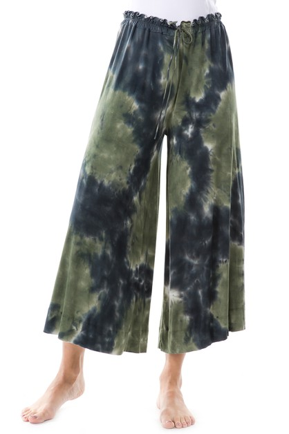 T PARTY TIE DYE WIDE LONG PANTS - orangeshine.com