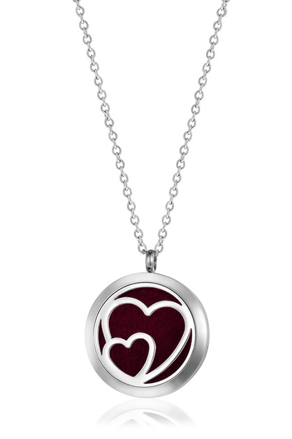 LARGE DOUBLE HEARTS NECKLACE - orangeshine.com