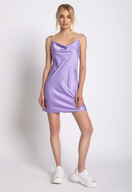 SATIN SLIP DRESS - orangeshine.com
