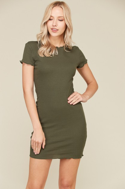 LETTUCE MERROW SHORT SLEEVE DRESS - orangeshine.com