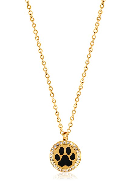 MINI GOLD DOG PAW NECKLACE - orangeshine.com