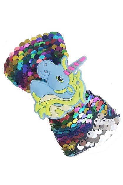 Mermaid Sequin Unicorn Hair Bow - orangeshine.com