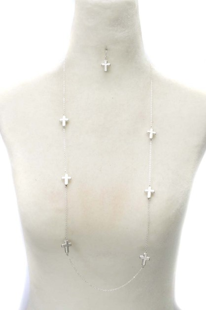 CROSS NECKLACE SET - orangeshine.com