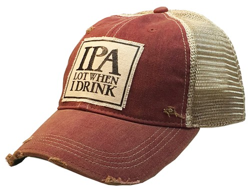 IPA Lot When I Drink Trucker Hat  - orangeshine.com