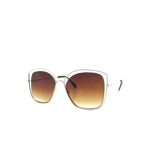 Oversize  Wire Cat-Eye Sunglasses - orangeshine.com