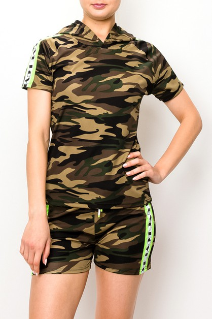Camo printing fashion set  - orangeshine.com