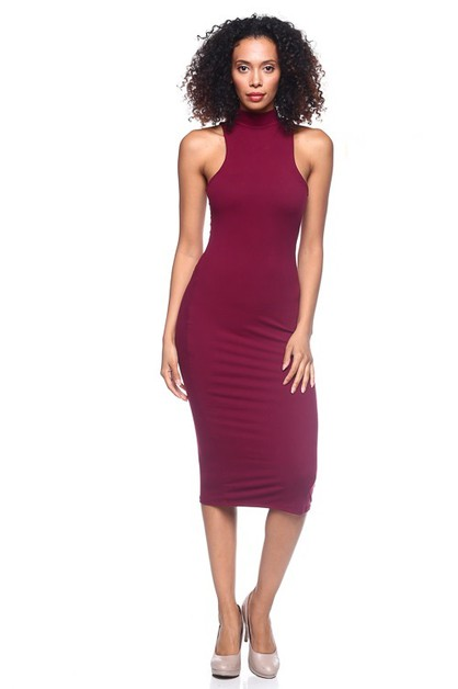 Mock neck Dress - orangeshine.com