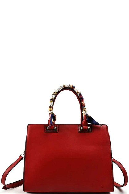 STYLISH SCARF HANDLE SATCHEL  - orangeshine.com