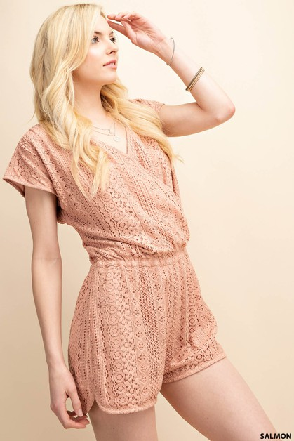 LACE LINED ROMPER - orangeshine.com
