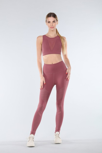 High Waisted Motto Legging - orangeshine.com