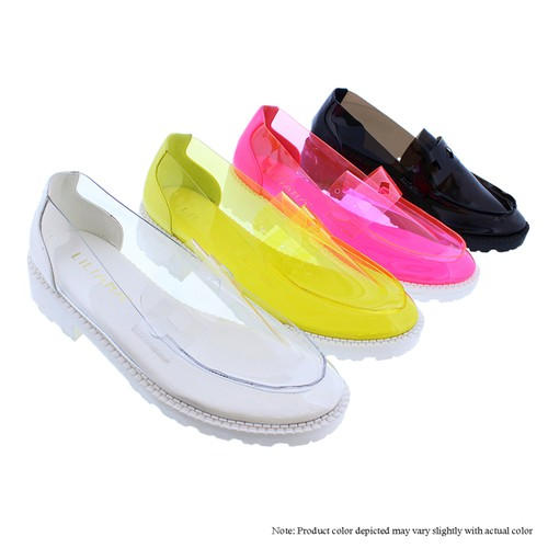 Clear Bright  Loafers - orangeshine.com