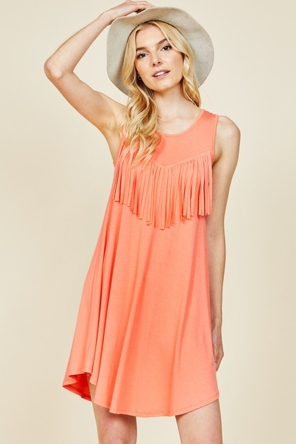 FRENZII TANK TOP TUNIC - orangeshine.com