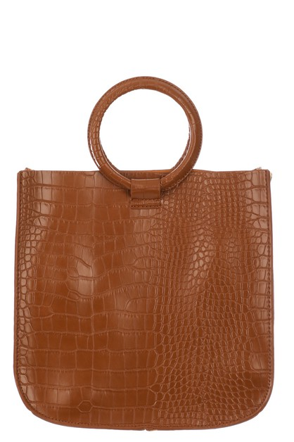 Faux Alligator Skin Square Bag - orangeshine.com