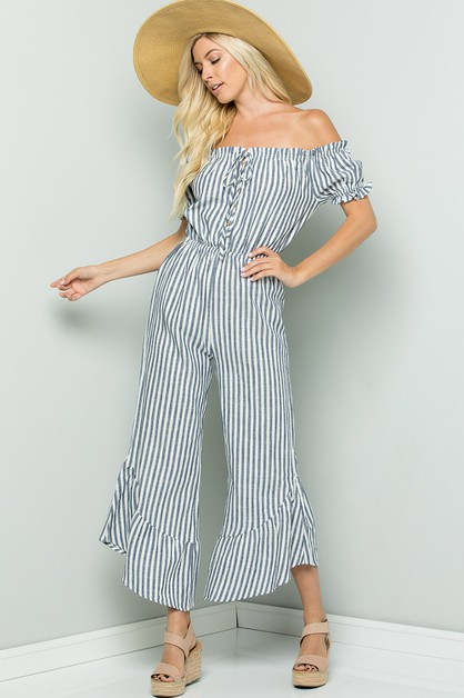 Off shoulder femme jumpsuit - orangeshine.com