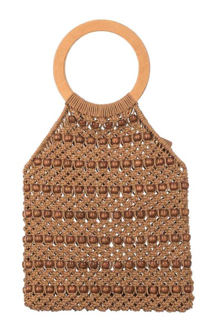 Braided Top Handle Beach Bag - orangeshine.com