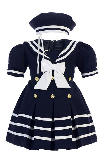Girls Nautical Sailor Dress Set - orangeshine.com