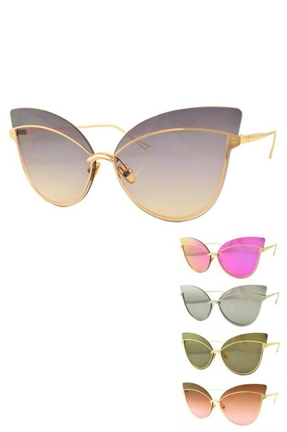 Cat Eye Iconic Top Bar Sunglasses Se - orangeshine.com