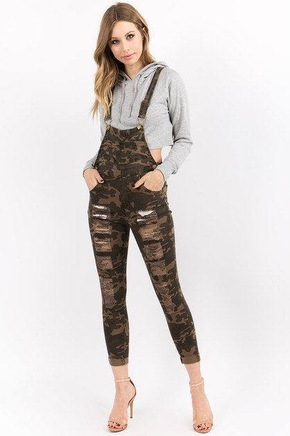 DISTRESSED OVERALL IN TWILL COTTON - orangeshine.com