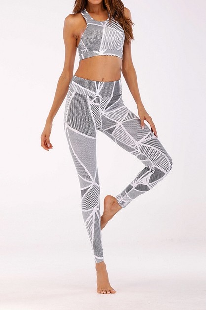 2PCS FITNESS YOGA LEGGING SET - orangeshine.com