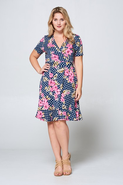 SURPLICE POLKADOTZ DRESS - orangeshine.com
