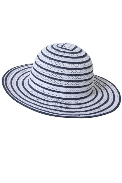 Stripey Bucket Hat - orangeshine.com