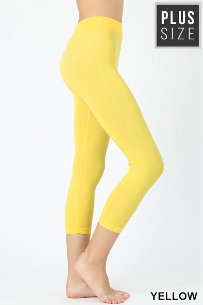 PLUS SEAMLESS CLASSIC CAPRI LEGGINGS - orangeshine.com
