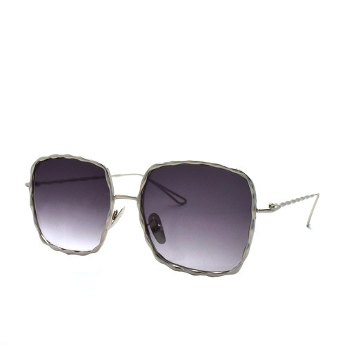 Oversized Metal Square Sunglasses P4 - orangeshine.com