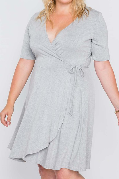 WRAP PLUS SIZE TUNIC DRESS - orangeshine.com
