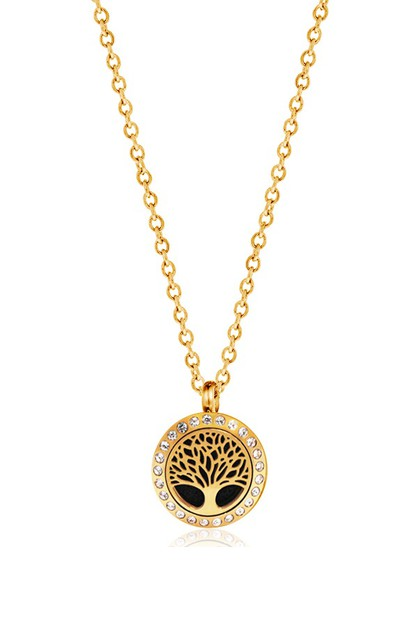 MINI GOLD TREE OF LIFE NECKLACE - orangeshine.com