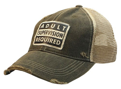Adult Supervision Required Trucker  - orangeshine.com