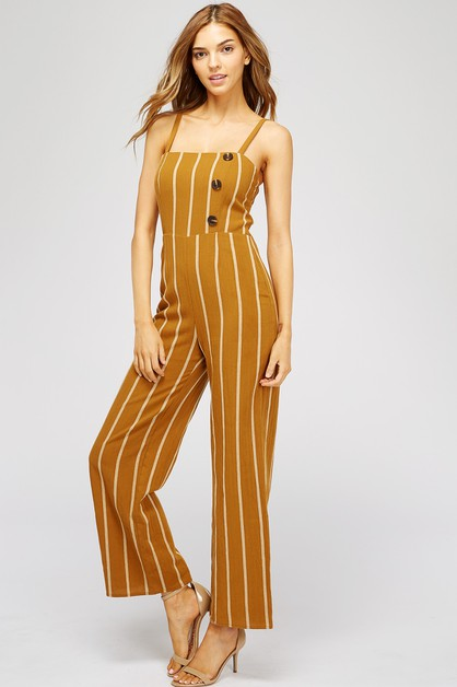 COTTON STRIPE JUMPSUIT  - orangeshine.com