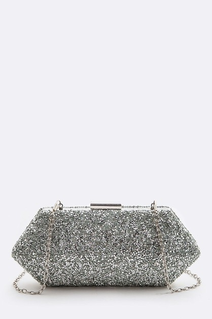 Crystal Druzy Iconic Box Clutch - orangeshine.com
