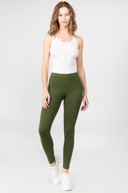 Basic High Rise Leggings - orangeshine.com